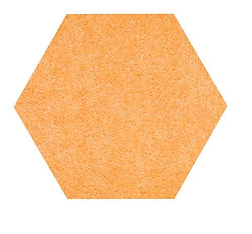 Bright House Solid Color Area Rug  6 L  Hexagon  Peach
