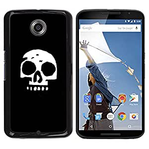 NEXUS 6 / X / Moto X Pro - Metal de aluminio y de plástico duro Caja del teléfono - Negro - Simple Skull