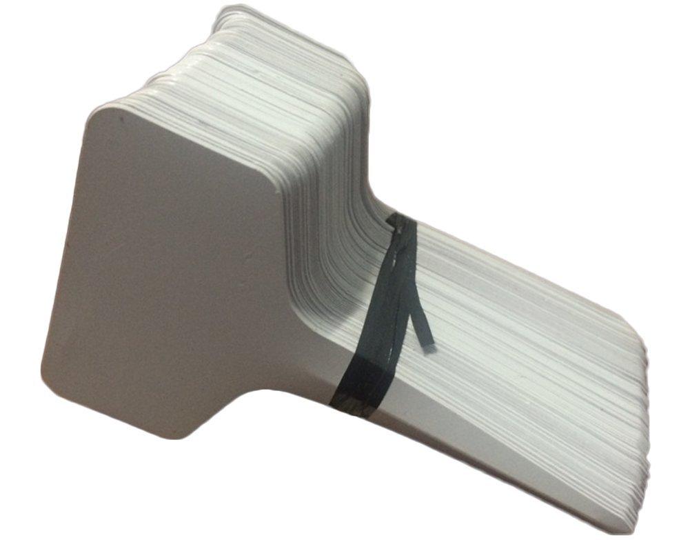 Outflower 100pcs Tipo T Giardinaggio Inserimento in Plastica di Pianta Etichette Floreali Stereo Bianca
