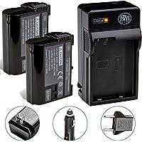 BM Premium 2-Pack of EN-EL15 Batteries and Battery Charger Kit for Nikon D850, D7500, 1 V1, D500, D600, D610, D750, D800, D810, D810A, D7000, D7100, D7200 Digital SLR Camera