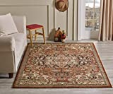 Golden Rugs Gabbeh Collection Persian Area Rug 4×6 Medallion Hand Touch Vintage Traditional Carpet Texture for Bedroom Living Dining Room 7254 (4×6, Terra) Review