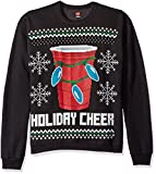 Hanes Ugly Christmas - Sudadera para Hombre, Ebony Holiday Cheer, Medium