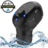 Waterproof Bluetooth Earbud, Mini Wireless Earbud,Car Bluetooth Headset Invisible Headphone with Mic, 6-Hr Playing Time Cell Phone Bluetooth Earpiece for iPhone iPad and Android Smart Phones (One Pcs)
