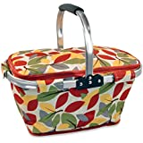 DII Insulated Market Basket or Picnic Tote, Perfect for Holidays Parties, Farmers Markets, BBQ's, Grocery Shopping, Potlucks, To Go Lunches, Craft/Dish Storage & Monogramming - Fall Leaves