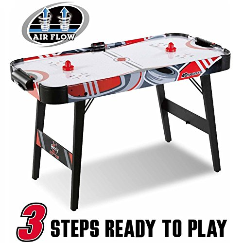 MD Sports Easy Assembly 48 Inch Air Powered Hockey Table, Space-Saving Design, Foldable Legs ()
