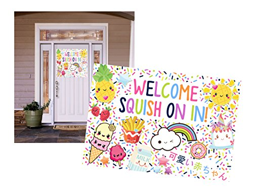 Squishy Kawaii Themed Party Supply Food (Welcome Decor) by Silly Goose Gifts
