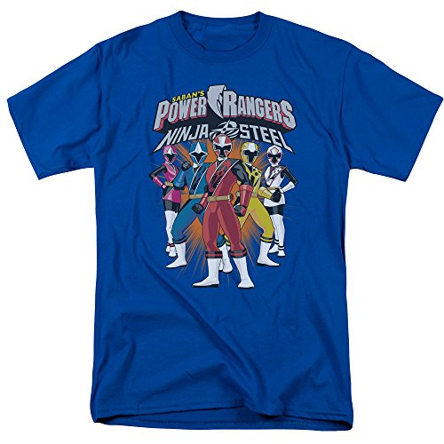 Power Rangers: Ninja Steel- Team Lineup T-Shirt Size XL