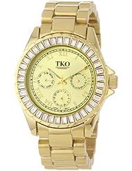TKO ORLOGI Womens TK520-GD Capri Metal Gold Swarovski Crystal Watch