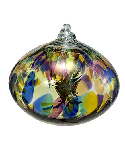 Glass Rhapsody All Colors Rainbow Wizard Orb Hand Blown Glass Gazing Ball