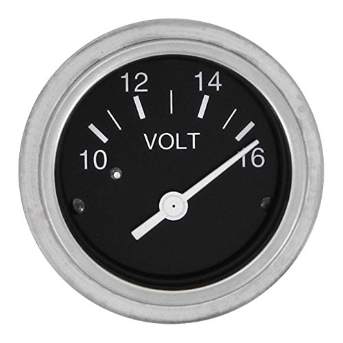 Sierra International 80134P, Voltmeter, Heavy Duty Nylon, 2 inch, 12 Volt, 10 to 16 VDC