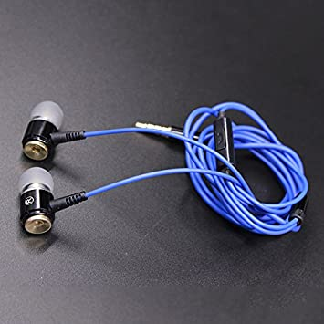 Auriculares intrauditivos con metal-mark atadura música in-ear auriculares de teléfono