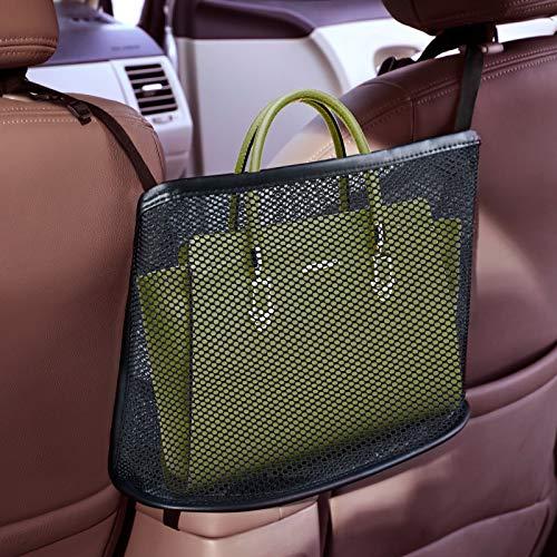8sanlione Car Mesh Organizer, Car Net Pocket Handbag Holder, Seat Back Net Bag, Barrier of Backseat Pet Kids, Cargo…