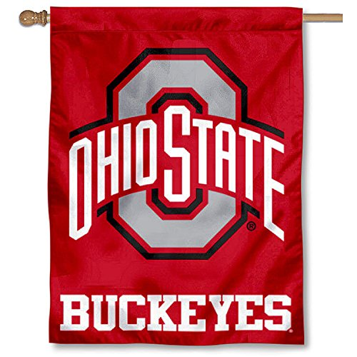 (OSU Buckeyes Athletic Logo House Flag Banner)