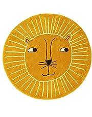 SWECOMZE Rond tapijt cartoon leeuw baby kruipende tapijten kinderen spelen mat tapijt / speeltapijt kind spel tapijten 100x100cm