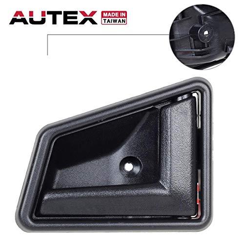 (AUTEX Door Handle Interior Front/Rear Right Side Compatible with Suzuki Sidekick,Geo Tracker 1989-1998 Door Handle Replacement for Chevy Tracker 1998 Door Handle Passenger Side 8311056B015ES)
