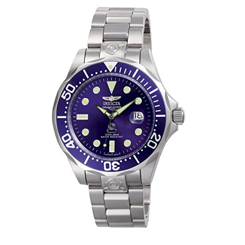 Invicta Men's 3045 Pro-Diver Collection Grand Diver Stainless Steel Automatic Watch with Link Bracelet - Invicta Bezel