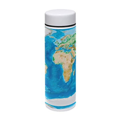68e78fa4f48 Amazon.com: Thermal Travel Mug World Map Geographical Food Grade ...
