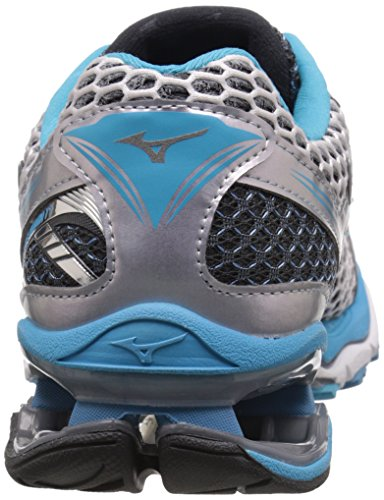 17 Running Atoll Dark Silver Mizuno Women's Shadow Creation Wave Blue Shoe HqwFtIn