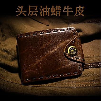 Monedero de cuero de los hombres, los hombres de cuero, la billetera de cuero