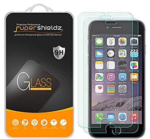 [2-Pack] Supershieldz for iPhone 6S Plus / iPhone 6 Plus Tempered Glass Screen Protector, [3D Touch Compatible] Anti-Scratch, Anti-Fingerprint, Bubble Free, Lifetime Replacement (Iphone 3 Protector)