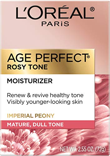 Face Moisturizer by L'Oreal Paris Skin Care, Age Perfect Rosy Tone Moisturizer for Face with LHA and Imperial Peony…