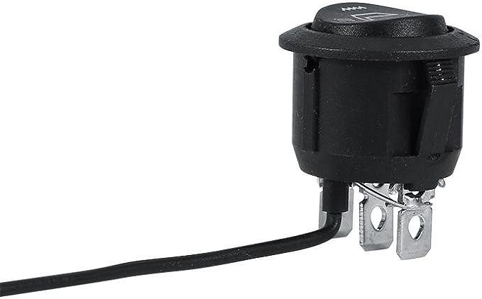 Keenso Interrupteur de chauffage du si/ège universel /à 3 broches rond /à bascule chauffant Hi Low Off Control 2x