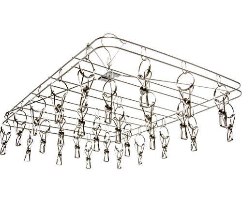 "STACK!T DR28HANG STACKT Hanging Dry Rack w/28 Clips, 13.5"" x 19.75"", Silver"