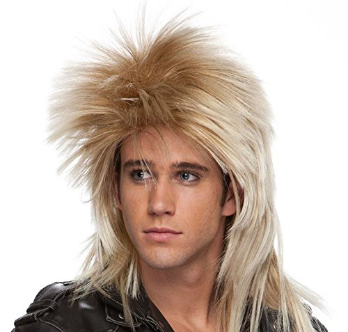 Jareth The Goblin King Costume (Long Rocker Wig - Mixed Blonde)