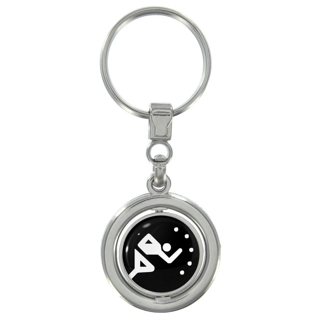 Olympic Sign Running Spinning Keyring in Gift Box