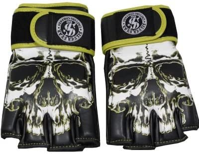 MMA Skull Boxing Fighting Training Half Finger Training Taekwondo Gloves New