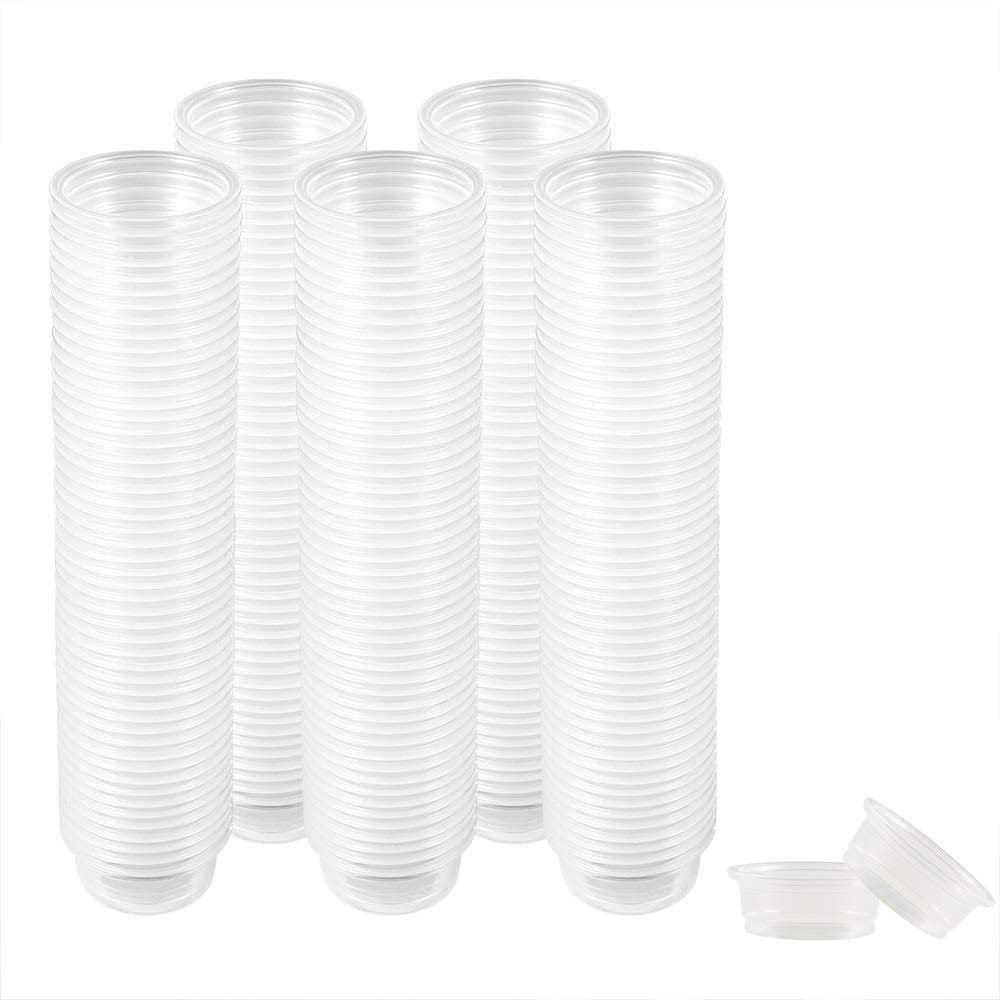 300 Pack 0.5 oz Cups,Gecko Food and Water Cups Plastic Replacement Cup for Reptile Feeding Ledge for Crested Gecko Lizard and Other Small Pet