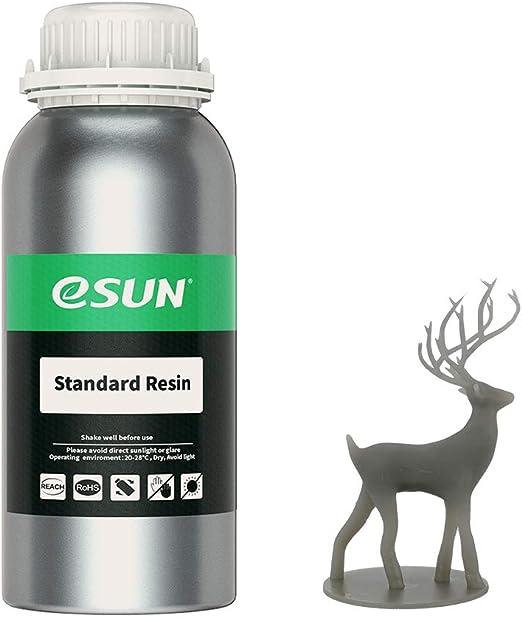 eSUN光造形3Dプリンター用LCDUVレジン500ml光硬化可能汎用樹脂photon等の3Dプリンタ向け(グレー)