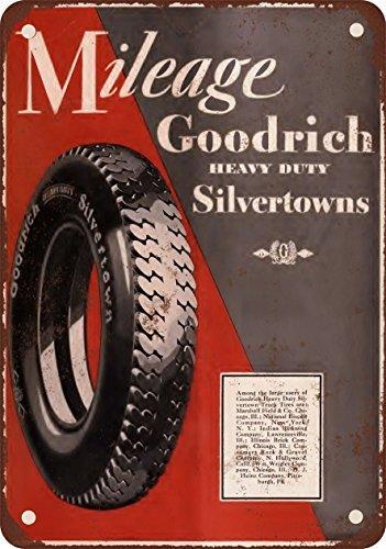 Cartel de metal de Goodrich Silvertown con aspecto vintage ...