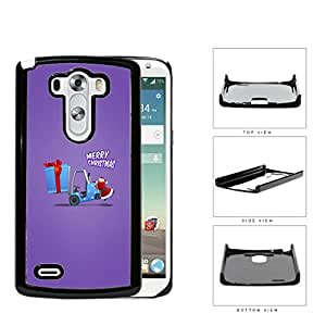 Funny Merry Christmas Santa Claus with Purple Background LG G3 VS985 Hard Snap on Plastic Cell Phone Case Cover