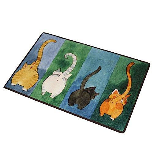 CHOOLD Cute Cat Butt Bedroom Area Rug, Cat Carpet,Cat Tail Non-Slip Absorbent Doormats for Bedroom Living Room Kitchen Bathroom