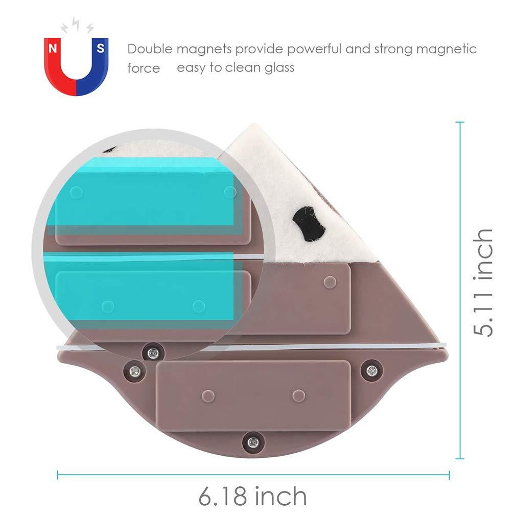 Spessore 15-24 mm KOUQI Spazzola Magnetica per vetri Pulitrice Doppia Superficie per vetri Attrezzi per Lavaggio a Spazzola tergivetro per Lavaggio aliante
