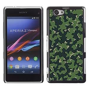Sony Xperia Z1 Compact / Z1 Mini / D5503 , Radio-Star - Cáscara Funda Case Caso De Plástico (Camo Camouflage Green Pattern)