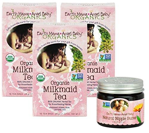 Earth Mama Angel Baby Organic Milkmaid Tea (3 Pack) with ...