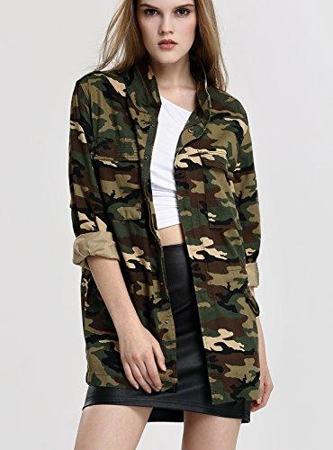 Militare Camouflage Camuffare Giacca Invernale Donne Camo Escalier qcftxYt