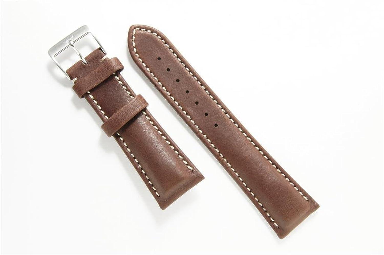 FORTIS Lederband dunkelbraun 20 mm inkl. Schließe fÜr Fortis Square