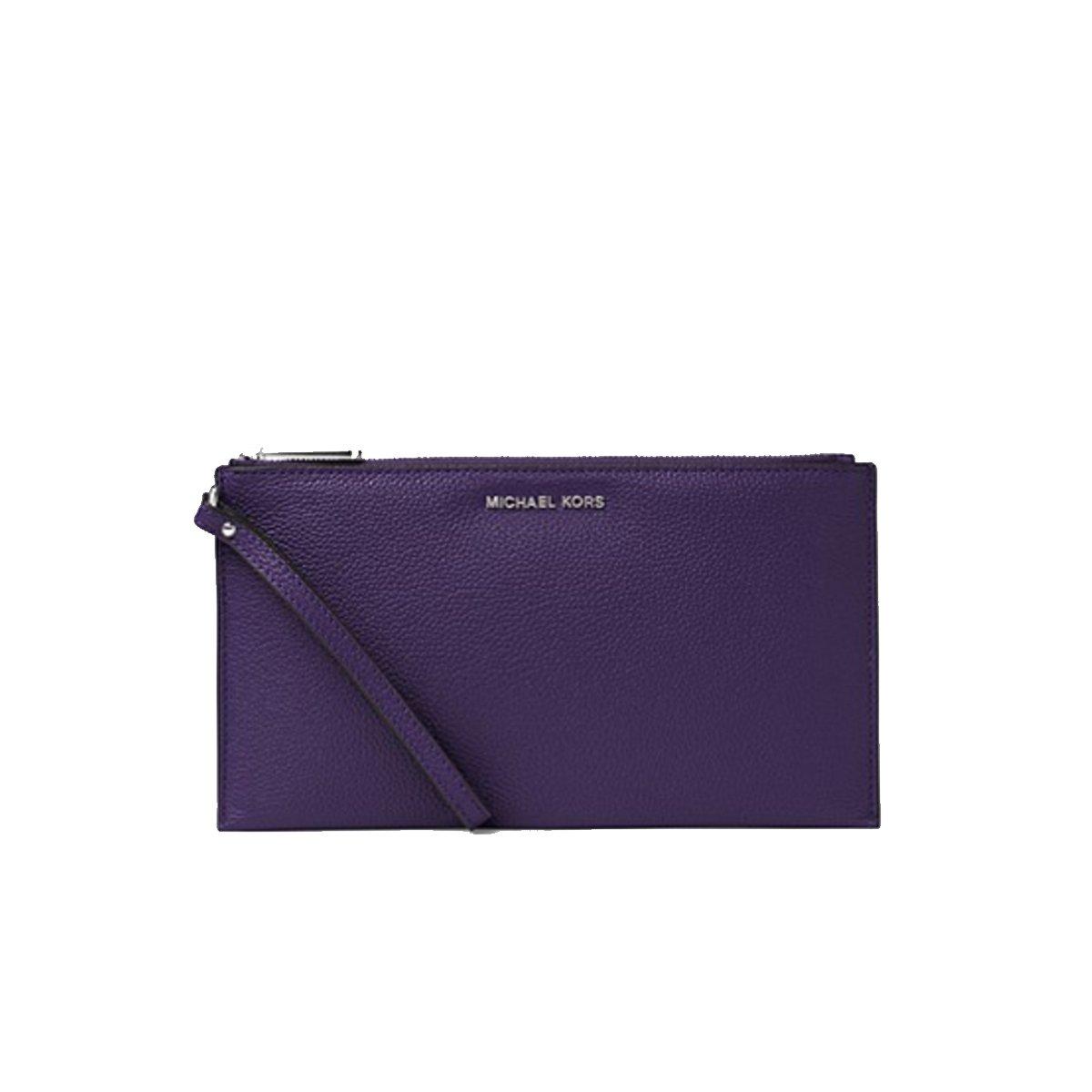 Michael Kors Mercer Purple Iris Leather Slim Wristlet