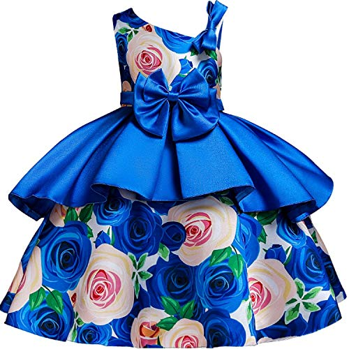 Pageant Sequin Backless Kids Dresses Princess Dresses Baby Girls Layered Tutu Dresses,Blue,7]()