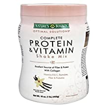 Nature's Bounty Complete Protein & Vitamin Shake Mix Vanilla, Pack of 8