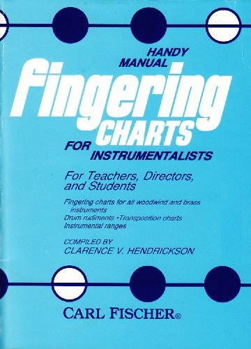 Fingering Chart - O3876 - Handy Manual Fingering Charts for Instrumentalists