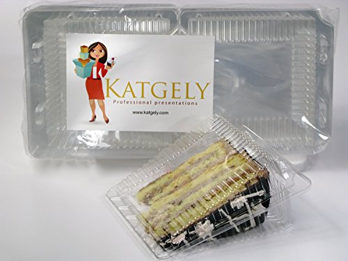 Katgely Pie Tart Cake Plastic Sideways Slice Container ( Pack of 50)