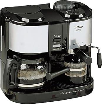 Ufesa CK7350 Dueto, Negro, Gris, 1.08 m, 1500 W, 220-240 V, 220 - Máquina de café: Amazon.es: Hogar
