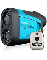 MiLESEEY Professional 660Yds Golf Avståndsmätare med Lutningskompensation, ± 0,55Yd Noggrannhet, Snabb flaggstångslås, 6X Förstoring, Skanning, Avstånd / Vinkel / Hastighetsmätning för Golf, Jakt