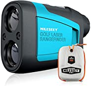 MiLESEEY Professional Precision Laser Golf Rangefinder 660 Yards with Slope Compensation,±0.55yard Accuracy,Fa