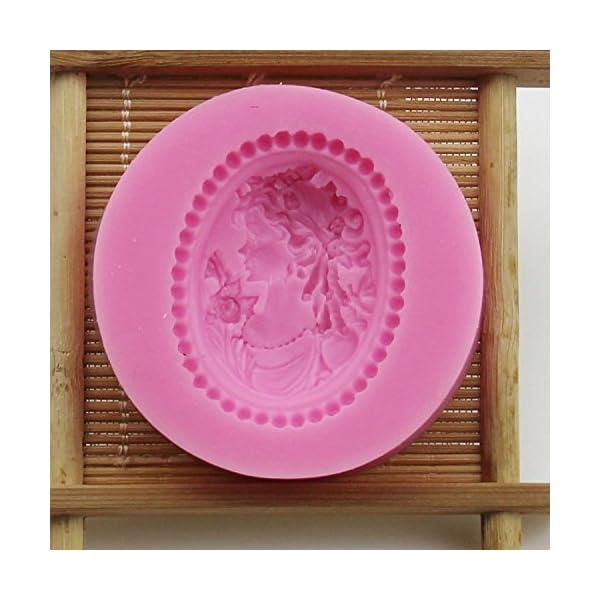 1X stampo in silicone ragazza Avatar Stile, Cubo di ghiaccio vassoi Cioccolato di Silicone stampo usare per torte, Cioccolato, gelati, torte, saponi, Cioccolato stampo (Rosa) 4 spesavip