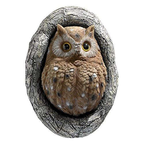 Design Toscano Knothole Owl Tree Sculpture